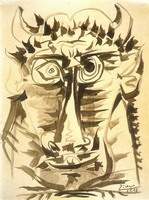 Pablo Picasso. Head of Minotaur