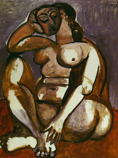 Pablo Picasso. Naked woman crouching, 1953