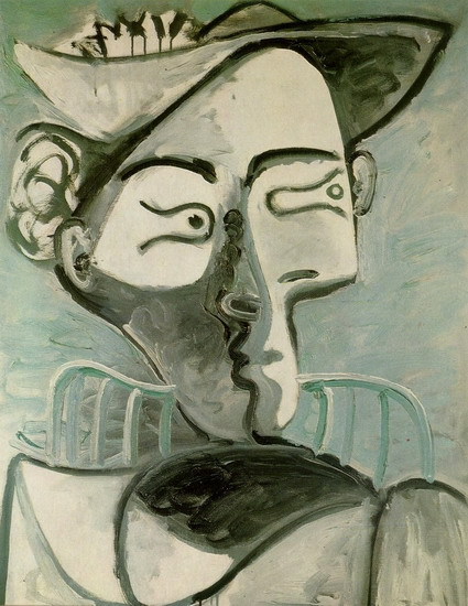Pablo Picasso. Seated Woman with Hat, 1962
