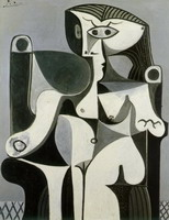 Pablo Picasso. Seated Woman (Jacqueline)