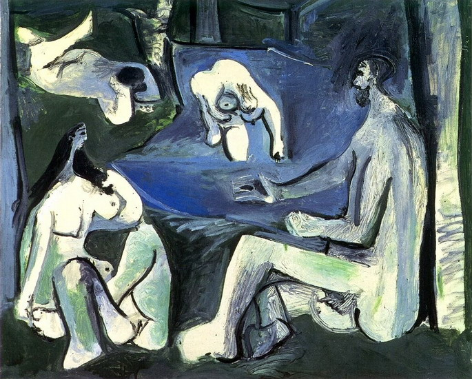 Pablo Picasso. The Luncheon on the grass (Manet) 7, 1961