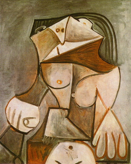 Pablo Picasso. Woman sitting naked I, 1959