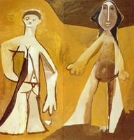 Two standing figures