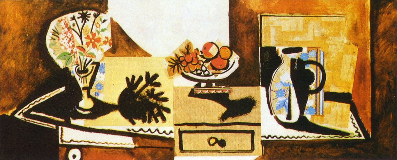 Pablo Picasso. Still Life on a dresser, 1955