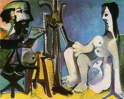 Pablo Picasso. The Artist and His Model, 1926