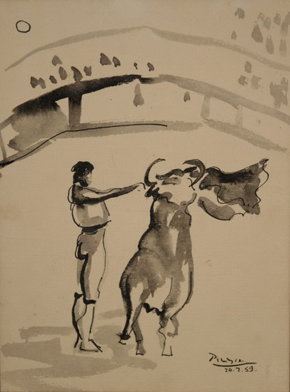 Pablo Picasso. The bullfighter, 1959