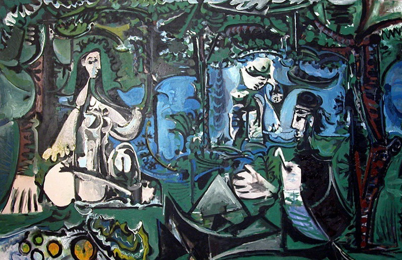 Pablo Picasso. The Luncheon on the grass (Manet) 6, 1960