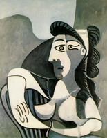 Pablo Picasso. Woman in an armchair (Bust)
