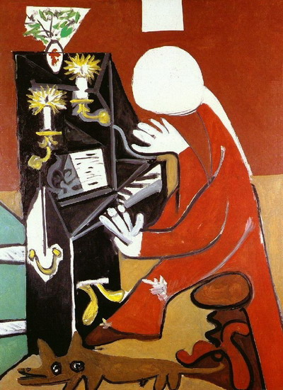 Pablo Picasso. The piano (Velаzquez), 1957