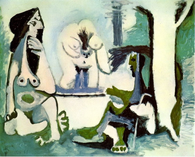 Pablo Picasso. The Luncheon on the grass (Manet) 12, 1961