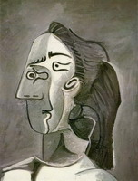 Pablo Picasso. Head of a Woman (Jacqueline)