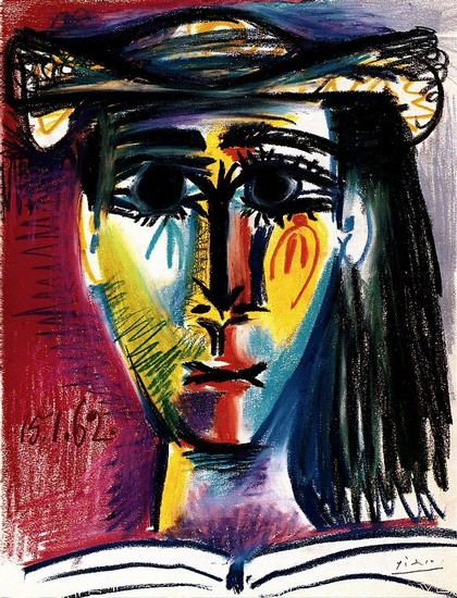 Pablo Picasso. Woman with Hat (Jacqueline), 1962