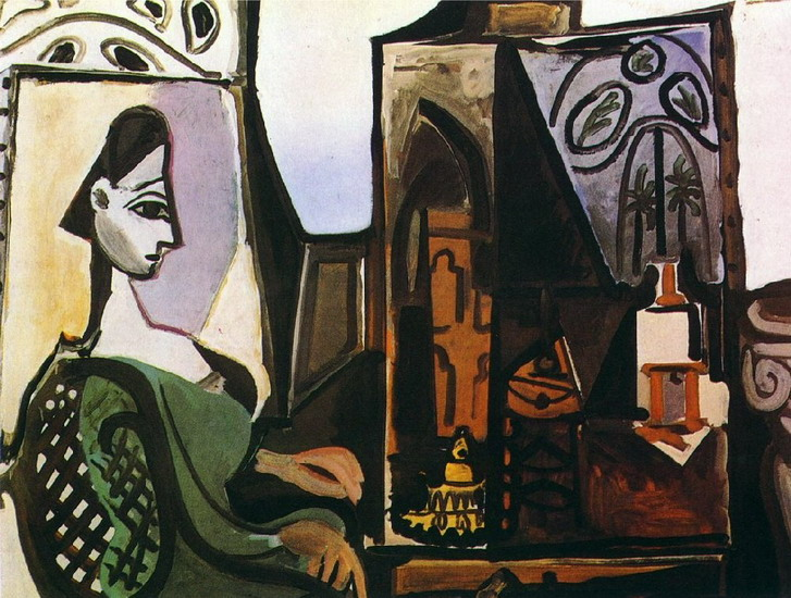Pablo Picasso. Woman in my workshop (Jacqueline) III, 1956