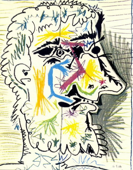 Pablo Picasso. Head of a bearded man II, 1964