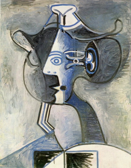 Pablo Picasso. Woman with hat, 1962