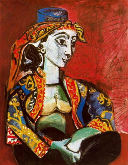 Pablo Picasso. Jacqueline in Turkish costume, 1955