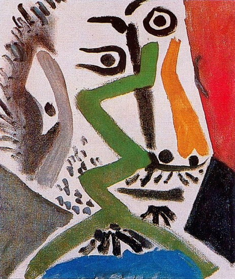 Pablo Picasso. Man Head III, 1964