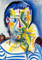 Pablo Picasso. Bust of man with cigarette II