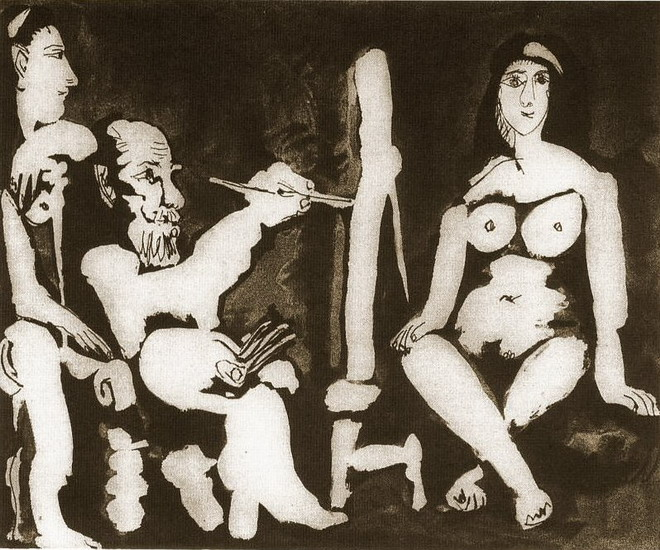 Pablo Picasso. The Artist and His Model 9, 1963