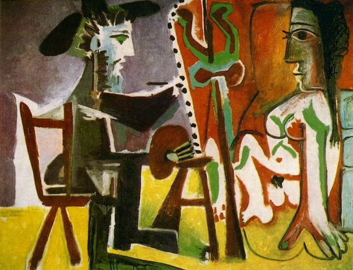 Pablo Picasso. The Artist and His Model 1, 1963