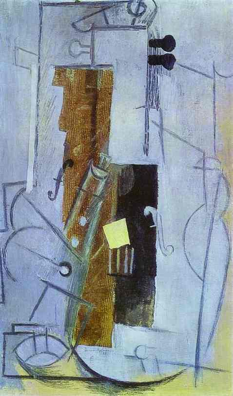 Pablo Picasso. Clarinet and Violin, 1913