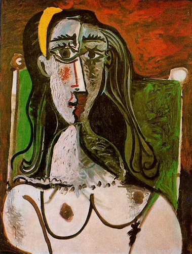 Pablo Picasso. Bust of a woman sitting, 1960