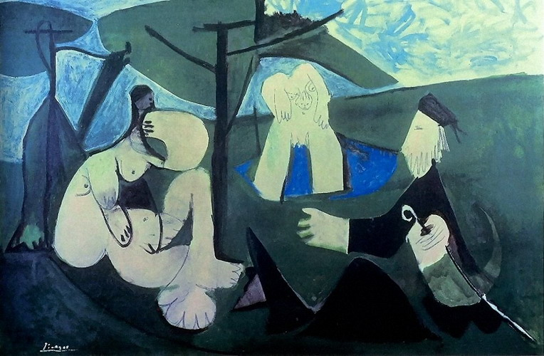 Pablo Picasso. The dejenuer on the grass (Manet) 4, 1960