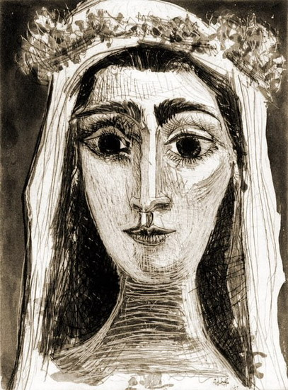 Pablo Picasso. Jacqueline married, Front I (XIV), 1961