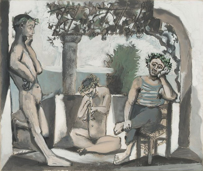 Pablo Picasso. Bacchanal, 1959