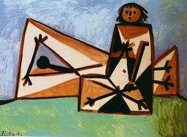 Pablo Picasso. Man and woman on the beach