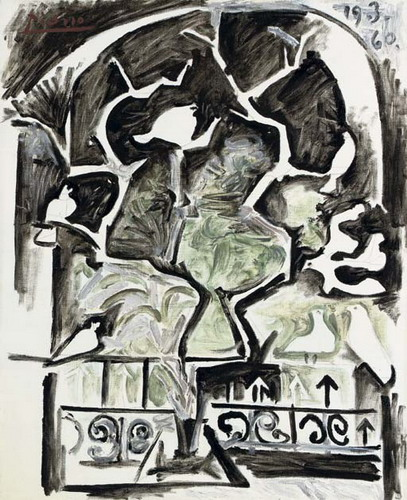 Pablo Picasso. Pigeons at the window, 1960