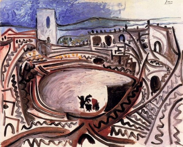 Pablo Picasso. Arles - the arenas before the RhУne, 1960